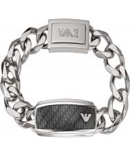 Emporio Armani EGS1688040 Mens signatur kolfiber silver stål ID-armband