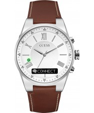 Guess Connect C0002MB1 Brun läderband smart klocka