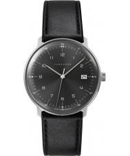 Junghans 041-4462-00 Max Bill svart läderrem klocka