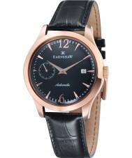 Thomas Earnshaw ES-8034-04 Mens blake svart croco läderrem watch