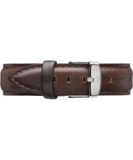 Daniel Wellington DW00200056 Damer klassiska bristol 36mm silver brunt läder extraremmen
