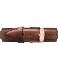 Daniel Wellington DW00200035 Damer klassiska st Mawes 36mm steg guld brunt läder reservband