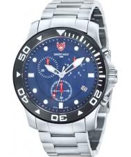 Swiss Eagle SE-9001-22 Mens Dyk havet bro silver chronographklockan