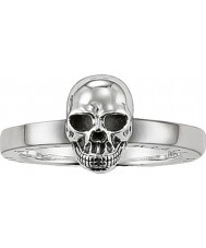 Thomas Sabo TR1876-001-12-54 Damer silver Skull Ring - storlek o (EU 54)