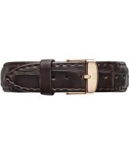 Daniel Wellington DW00200038 Damer klassiska york 36mm steg guld mörkbrunt läder reservband