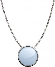 Skagen SKJ0790040 Damer hav glas silver stål polerad halsband