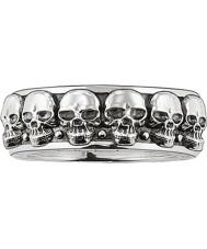 Thomas Sabo TR1878-001-12-62 Mens silver skallen ringband - storlek T.5-u (EU 62)