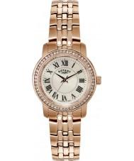 Rotary LB02597-41 Damer klockor kristall bezel steg guldpläterade klockan