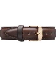 Daniel Wellington DW00200039 Damer klassiska Bristol 36mm steg guld brunt läder reservband