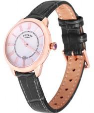 Rotary LS02919-41 Damer klockor elise svart läderrem klocka
