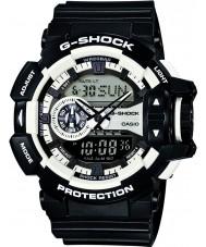 Casio GA-400-1AER Mens g-shock vit svart chronographklockan