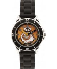 Disney SWM3046 Pojkar bb-8 klocka med svart silikonband