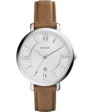 Fossil ES3708 Damer jacqueline brunt läder Strap Watch