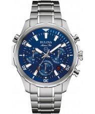 Bulova 96B256 Mens marin stjärna silver chronographklockan