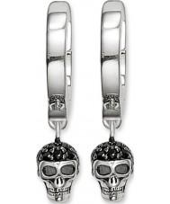 Thomas Sabo CR573-051-11 Damer silver skalle gångjärn hoop örhängen