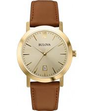 Bulova 97B135 Mens klänning brunt läder Strap Watch