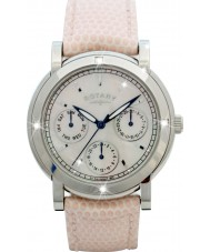 Rotary RLS00024-07-W Ladies klockor vit läderrem chronographklockan
