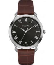 Bulova 96A184 Mens klänning brunt läder Strap Watch