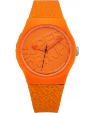 Superdry SYG169O Urban apelsin silikonet fäster klocka med tryckt logo i orange