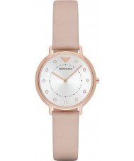 Emporio Armani AR2510 Damer klänning ljusbrunt läder Strap Watch