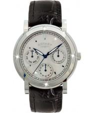 Rotary RLS00024-07-BLK Ladies klockor svart läderrem chronographklockan