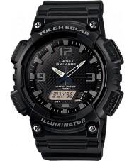 Casio AQ-S810W-1A2VEF Samling svart tuff sol världstid klocka