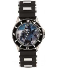Disney SWM3076 Boys Stormtrooper klocka med svart silikonband