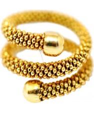 Babette Wasserman RG230G-L Damer stardust orm ring - storlek L