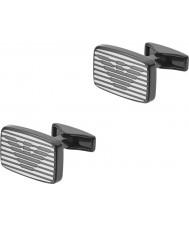 Emporio Armani EGS2179060 Mens signatur två manschettknappar tonen stål