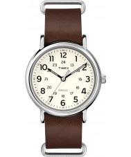 Timex T2P495 Weeke brunt läder Strap Watch