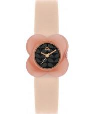 Orla Kiely OK2060 Damer vallmo rosa blomma fall naken läderrem watch
