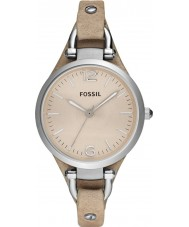 Fossil ES2830 Ladies Georgia sand läderrem watch