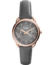 Fossil ES3913 Damer skräddarsydda grå läderrem watch
