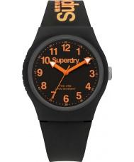 Superdry SYG164B Urban svart silikon rem klocka
