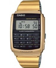 Casio CA-506G-9AEF Mens samling guld ton miniräknare klocka