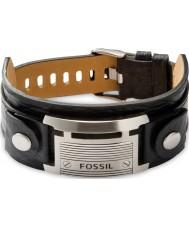 Fossil JF84816040 Mens tappning tillfällig svarta läderarmband