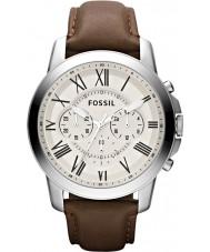 Fossil FS4735 Mens bevilja brun chronographklockan