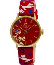Radley RY2000 Damer cirkus tryckt röd läderrem watch