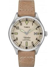 Timex TW2P84500 Mens waterbury mitten av storlek tan läderrem watch