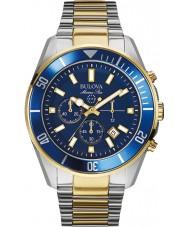 Bulova 98B230 Mens marin stjärna blå stål chronographklockan