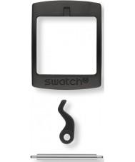 Swatch S639000222 Ny gent svart plastspänne-set