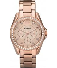 Fossil ES2811 Damer Riley ökade guld stål chronographklockan
