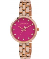 Accessorize AZ4001 Ladies färg pop steg guld armband klocka