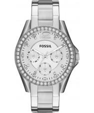 Fossil ES3202 Damer Riley silver stål chronographklockan