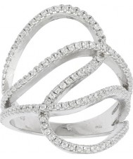 FROST by NOA 145006-54 Damer rodierat ring med cubic zirconia - storlek n