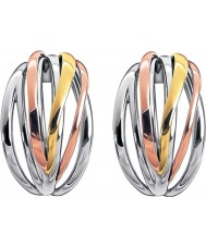 Calvin Klein KJ1RDE300100 Ladies skarpa tre färgade mix hoop örhängen