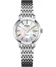 Rotary LB05300-07 Damer klockor Windsor silver tonen stål watch