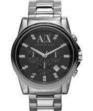 Armani Exchange AX2092 För män svart silver kronograf klänning klocka