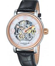 Thomas Earnshaw ES-8011-06 Mens longcase svart croco läderrem watch