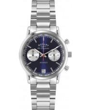 Rotary GB90130-05 Mens les origin sport avenger blå silver chronographklockan